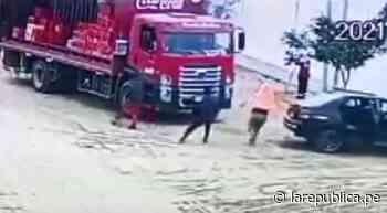 Asaltan camión repartidor de gaseosas en Trujillo - LaRepública.pe