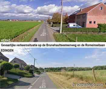 EDINGEN/HERNE – Gevaarlijke verkeerssituatie op de Brunehaultsesteenweg en de Romeinsebaan - Editiepajot