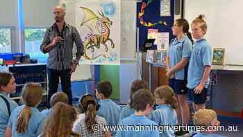 Mark McBride and Leigh Hobbs visit Wingham Brush Public School - Manning River Times