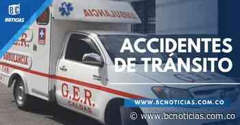 Accidentes de tránsito dejan ocho lesionados en vías de Manizales - BC NOTICIAS - BC Noticias