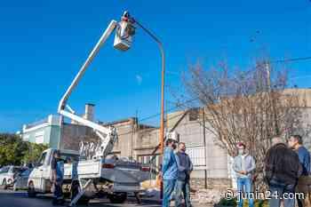 El barrio El Molino contará con 114 luces LED en 32 cuadras - Junín 24