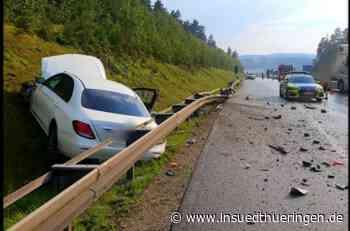 Unfall bei Ilmenau - Autofahrer kommt von A 71 ab - inSüdthüringen