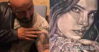 """""""No quería saber nada más de él"""": tatuador de Lupillo Rivera sobre el diseño para cubrir el rostro de Belinda - infobae"""