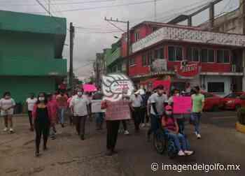 Marcharon por la democracia en Nanchital y exigen voto por voto - Imagen del Golfo