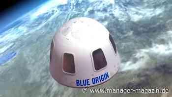 Bemannter Erstflug von Blue Origin: Zehn Minuten Weltraum-Flug mit Jeff Bezos kosten 28 Millionen Dollar