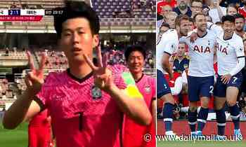 'I love you': Son Heung-Min dedicates his goal to Christian Eriksen after former team-mate collapsed