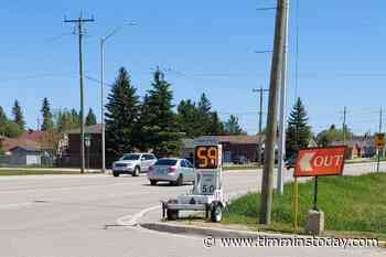 Speed calming device strategically set up in South Porcupine - TimminsToday