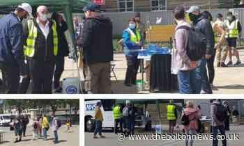 Anti-vax protestors descend on Bolton vaccination site