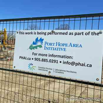 Briefs: Upcoming Port Hope Area Initiative cleanup work - Toronto Star
