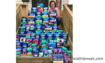 St. Catharines woman donates $1000 of period products to United Way Niagara's Period Promise campaign - Niagarathisweek.com
