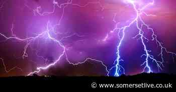 Met Office yellow weather warning for thunderstorms in South West - Somerset Live