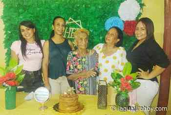 Cumpleaños número 95 de matrona camaronera celebrado en Riohacha - La Guajira Hoy.com
