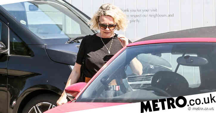 Charlie Brooks spotted leaving set of EastEnders as Janine Butcher returns to soap