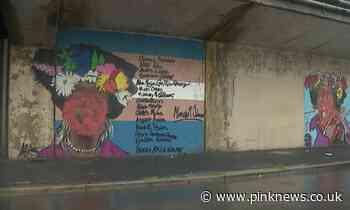 Beloved mural of trailblazing Stonewall legend Marsha P Johnson defaced by thugs - PinkNews