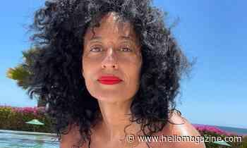 Tracee Ellis Ross looks sensational in botanical bikini as she poses by the poolside