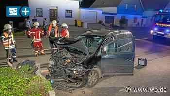 Kreuztal: Unfall nach Sekundenschlaf – Fahrer verletzt - Westfalenpost