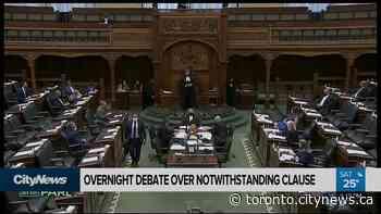 Marathon debate over notwithstanding clause at Queen's Park - CityNews Toronto