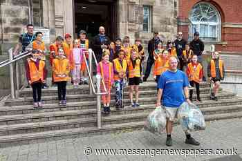 Trafford Council manager takes on litter picking marathon - Messenger Newspapers