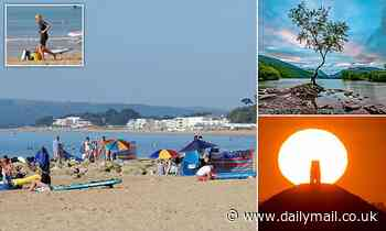 Britons pack beaches and beauty spots with temperatures set to hit 86F on hottest day of the year