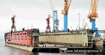 À Brest, un dock flottant XXL remis à neuf chez Damen - Le Télégramme