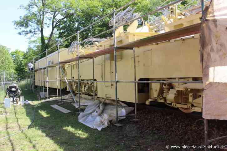 Historische Lok in Brieske wird saniert