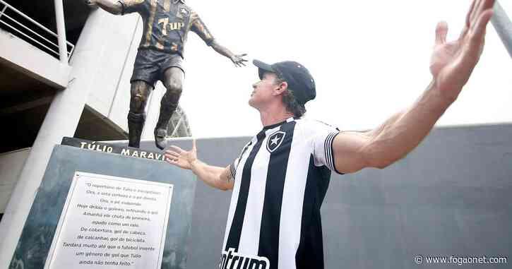Túlio Maravilha leva na boa estátua no Botafogo ser comparada a Crivella: 'O que vale é a - FogãoNET