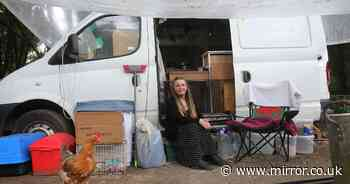 Woman with terminal cancer forced to live in van with pets after being evicted