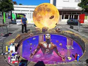 Blumberg: Blumberger Street-Art-Festival findet online statt – Doch ein großes 3D-Bild entsteht auf dem Marktplatz - SÜDKURIER Online