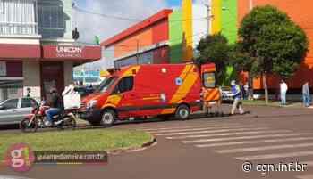 Medianeira: Motociclista fica ferida em acidente no Bairro São Cristóvão - CGN