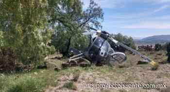 Helicóptero de Sedena se desploma cerca de Santa Lucía; no hay heridos - Proyecto Puente