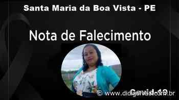 24º óbito por Covid-19 em Santa Maria da Boa Vista é de uma jovem de 33 anos de idade - Blog do Didi Galvão