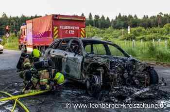 Polizeibericht aus Rutesheim: Auto brennt vollständig aus - Rutesheim - Leonberger Kreiszeitung