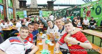 Watch Euro 2020 fever hit Newcastle as hundreds cheer on England