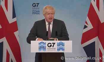 Boris confirms G7 will donate a billion Covid jabs to poorer countries