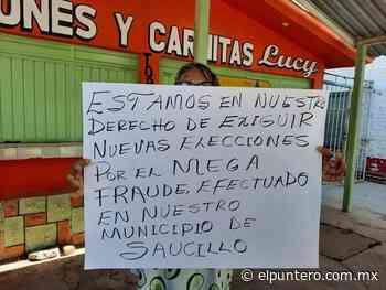 Denuncian fraude electoral en Saucillo - El puntero