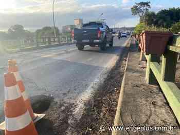 Buraco abre em cabeceira de ponte em Cocal do Sul - Engeplus