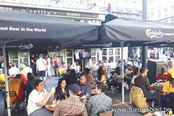 Overwinning Rode Duivels stevig gevierd: veel volk op Brusselse pleinen - Het Nieuwsblad