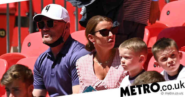 Euro 2020: Coleen and Wayne Rooney support England at Wembley with sons and bump into Jamie Redknapp