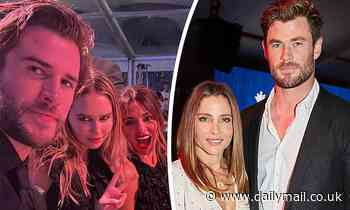 Chris Hemsworth and Elsa Pataky 'skip the after-party' of the Gold Dinner 2021 charity - Daily Mail