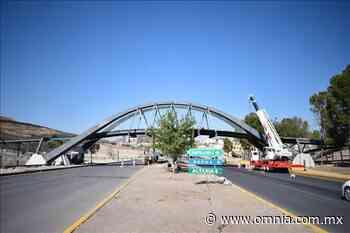 Registra avance del 70% construcción del puente peatonal y ciclista parque Encino y Reliz - Omnia