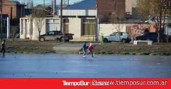 Peligro: Lagunas escarchadas en Río Gallegos - Tiempo Sur