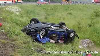 Familie verunglückt auf der Autobahn bei Burgau schwer - Augsburger Allgemeine