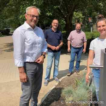 Neuer Trinkwasserbrunnen im Soester Rosengarten - Hellweg Radio