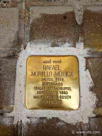 Un adoquín dorado en recuerdo de Rafa Murillo, superviviente de Mauthausen - Agencia EFE