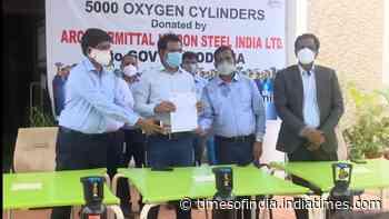 ArcelorMittal Nippon Steel India donates over 5000 oxygen cylinders to Odisha govt