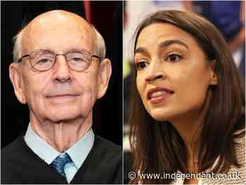 AOC agrees liberal Supreme Court justice Stephen Bryer should retire from bench