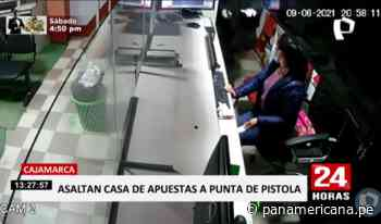 Cajamarca: captan asalto en casa de apuestas en Chota   Panamericana TV - Panamericana Televisión