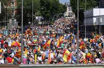 La Plaza de Colón grita no a los indultos y cierra sin foto de la derecha - EFE - Noticias