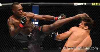 Adesanya logra décima victoria en UFC y defiende título ante Vettori; Moreno hace historia en UFC 263 - Los Angeles Times