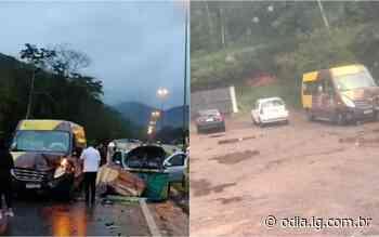 Acidente de trânsito na BR-116, em Guapimirim, deixa três pessoas feridas - O Dia